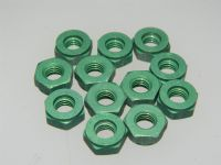 "12 x 1/4"" BSF Nuts Aluminium Alloy Dyed Greenl PartDHS983E [Z5]"